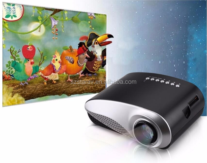 RD802 cheapest LCD mini led projector with SD card, USB, HDMI, AV, VGA, TV