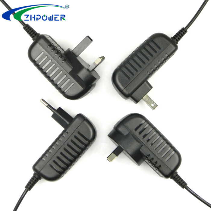 Wall mounted ac dc adapter 12vdc 1a ac adaptors 12volt 12W wall mount with USA AU EU UK KR plug