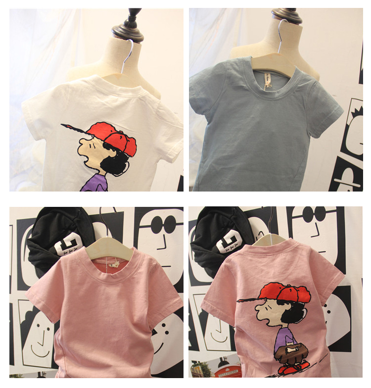 New Design Cute Cartoon Pattern O-neck Children T-shirt for Boys