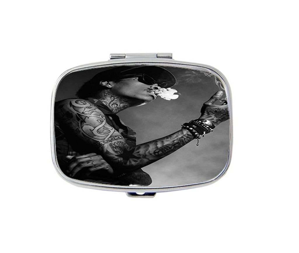 968c1dcbc93 Get Quotations · Wiz Khalifa Taylor Gang Vest Custom Silver Rectangle  Stainless Steel Pill Case Medicine Organizer