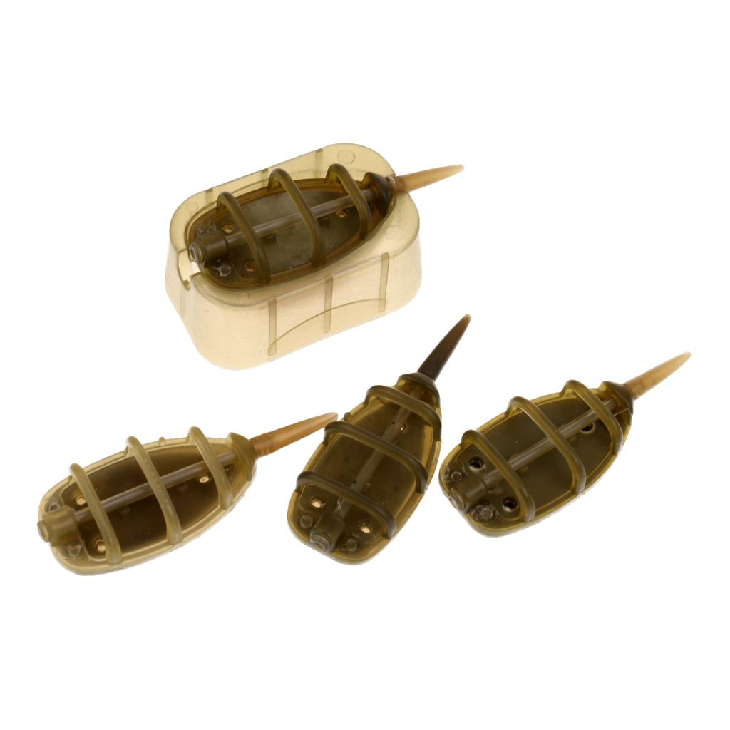 12Pcs//Set 15g 20g 25g 35g In-line Method Feeder Fishing Feeder Lead Sinker
