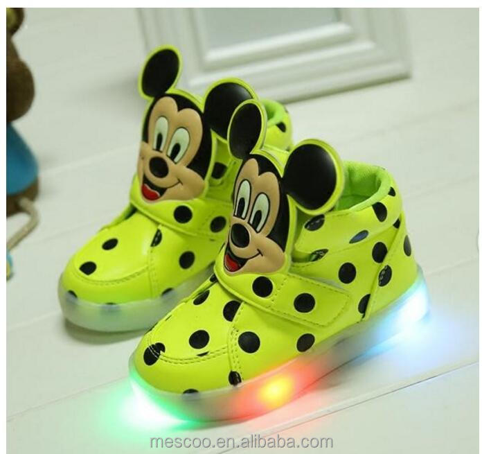 2016 New Children Casuals Shoes Baby Toddler Shoes Girls Boys Sports Shoes Kids LED Light Sneaker Baby Luminous
