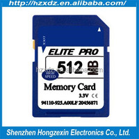 Best quality 512MB Memory sd Card Big Card high speed 100% Full Capacity sd memory card 512