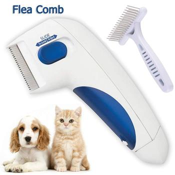 Drop shipping head nit flea removal electric comb v-comb lice for dog pets
