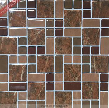 Wootile Vinyl Peel And Stick 3d Mosaic Gel Waterproof Self