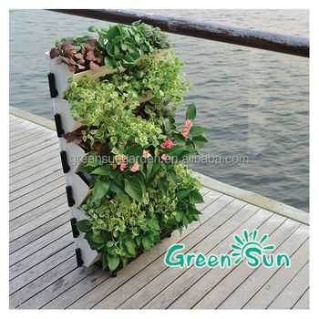 Standing Vertical Garden With Garden Ideas Green Wall Planter Living