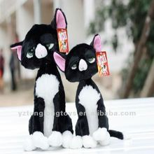 2012 new soft and lovely black plush cat