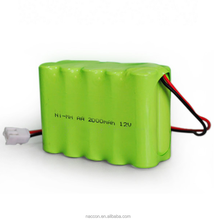 AA 12V 2000mah NI-MH rechargeable power battery pack