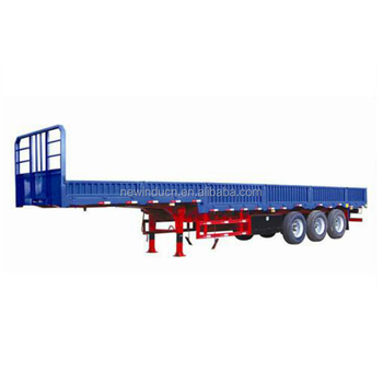Chinese 2 Axles/3 Axles/4 Axles Low Bed Semi Trailer For Excavator