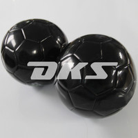 high quality black PVC soccer football ball for promotion