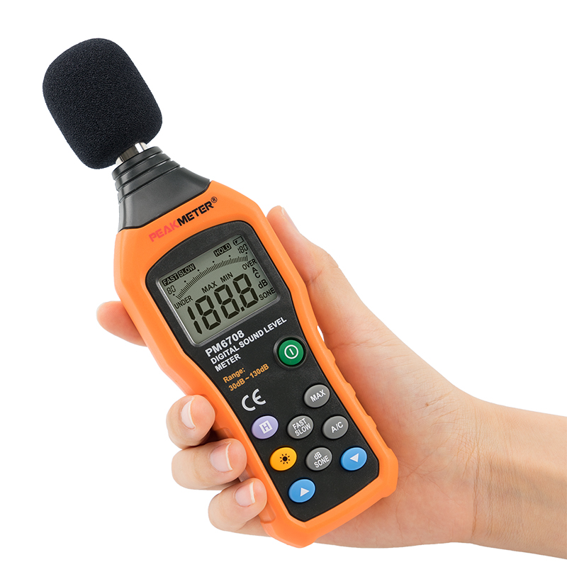 PM6708 Digital Sound level meter 30 te 130dB Noise tester Noisemeter Meter