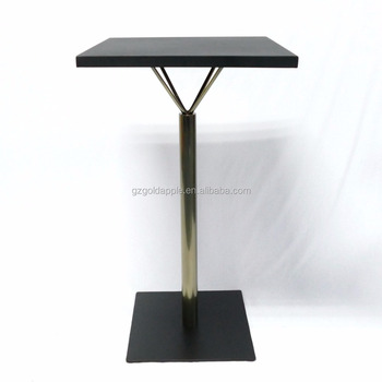 Commercial High Pub Table With Metal