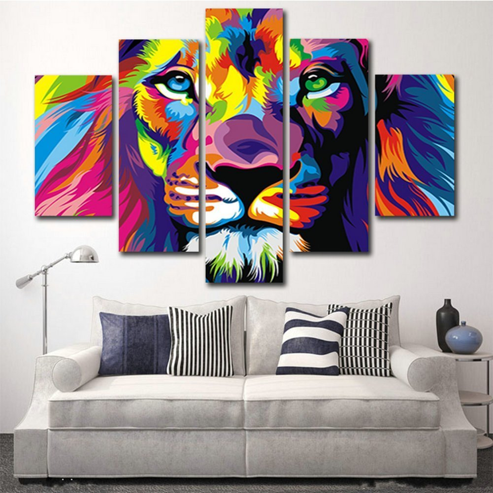 Amazing Get Quotations · H.COZY 5 Piece Free Shipping Original Animal Oil Painting  Pictures Art Print On The