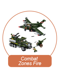 Qman Hunting Down Carrier Vehicle Model Building Blocks Toy Set For Child