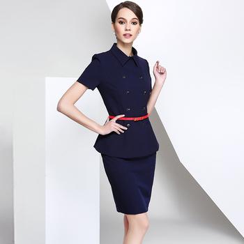 9fc4fdf4e678 Summer Design Navy Blue Skirt Ladies Suits In Guangzhou - Buy Ladies ...