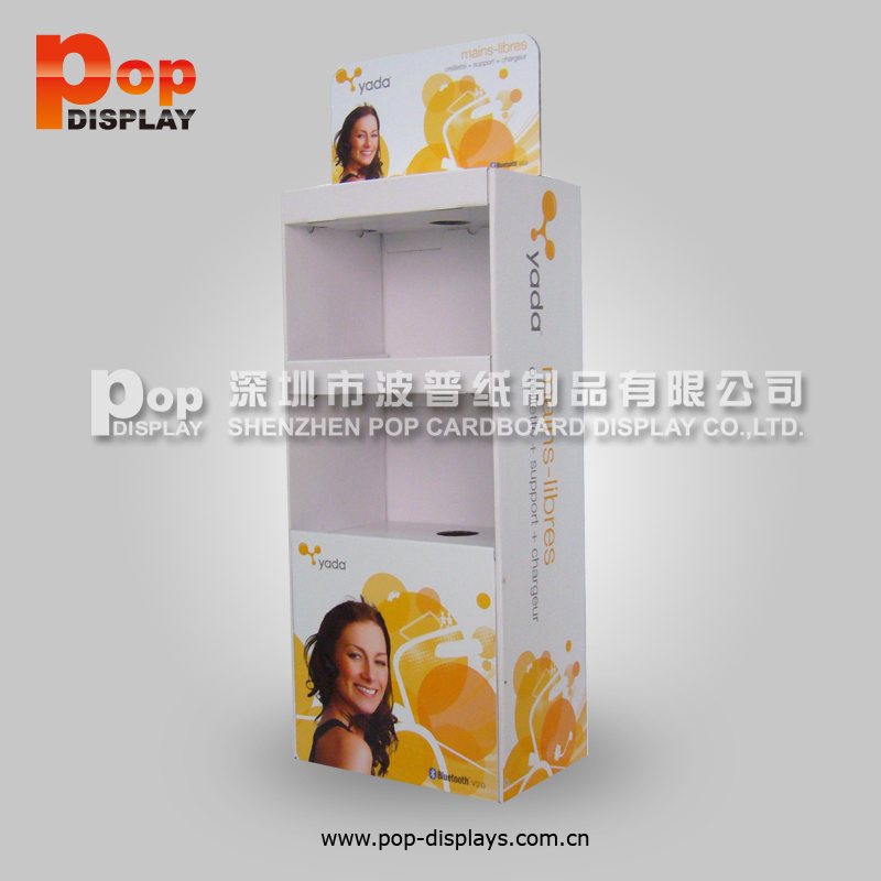 Custom Packaging Cardboard Floor Display with Logo Printing
