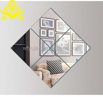 Square Shape Decorative Mirror Beveled Mirror Tiles 12x12 Buy