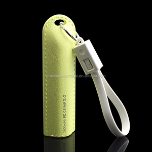 Hot gadgets 2 in 1 usb cable power bank 2600mah mobile charger