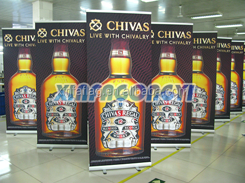 Outdoor display advertising roll up banner