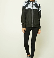 Custom wholesale womens zip up cool jacket and hoodies