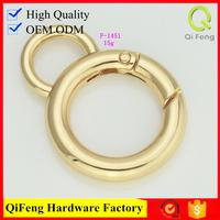 QF7722 zinc alloy handbag hook O ring shape nickel color