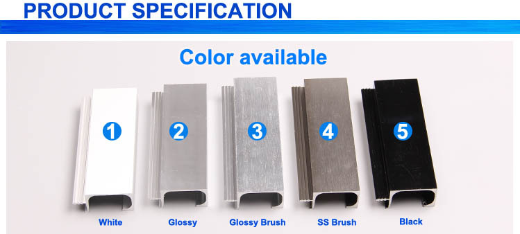 Advanced Materials Stainless Steel Color Aluminum Extrusion
