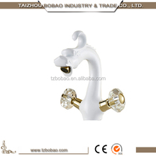Most Popular Made In China Double Handle Water Saving Brass White Color Painted Wash Basin Taps