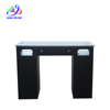 New Fancy Black Luxury Manicure Desk Nail Salon Table With Granite Top