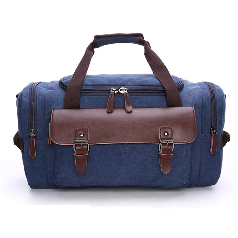1e61f9c9cba5 Get Quotations · Canvas Duffel bag Overnight Travel Bags Travel Duffel Bag  for Men Canvas Leather gym Bag women