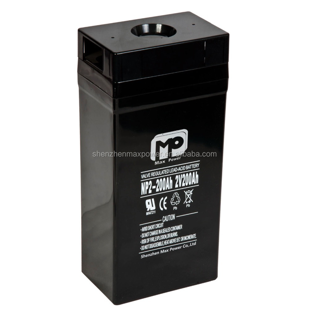 high performance lead acid battery 2v lead storage battery 200ah