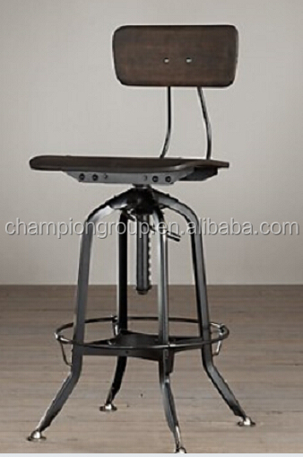Metal Stool With Wooden Top Antique Iron Bar Stools Cheap