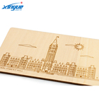 Wooden Post Card, Canada Parliament Hill Tourist Gift Card, Scenic Souvenir Craft Card