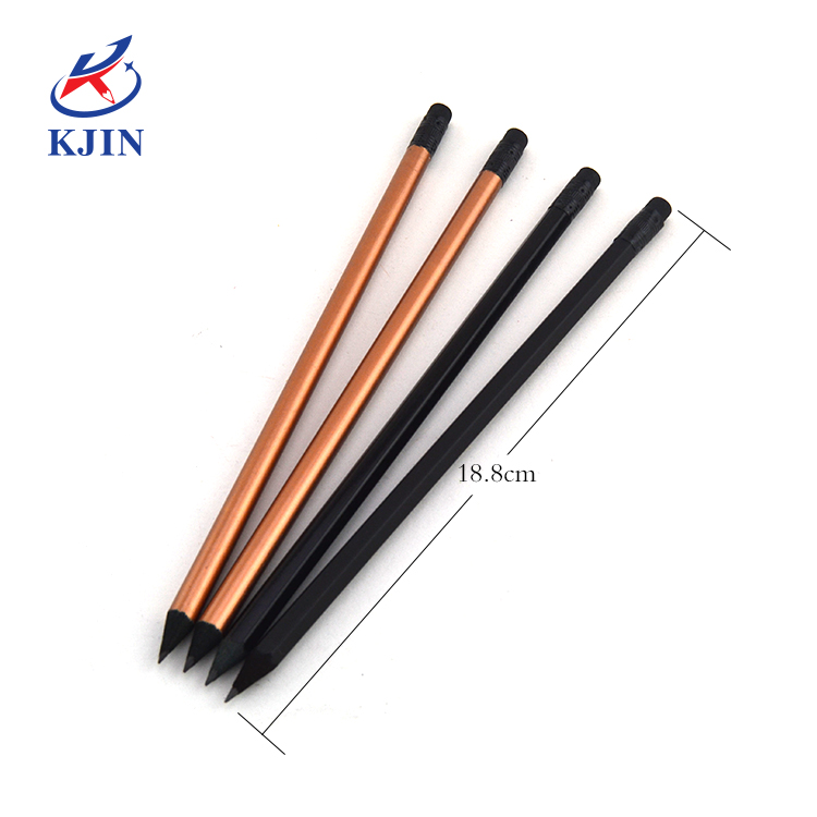 EN71 Customize logo promotional Factory directly hot selling hb2 black wood writing pencil for students