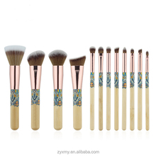 Wholesale 12Pcs Private Lable Soft Synthetic Nylon Cosmetics Makeup Brush Set