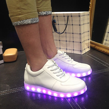 New Style 2015 Simulation Led Shoes For Adults Fashion High Quality Unisex LED Luminous Shoes Men & women Casual Shoes X764