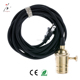 CE Certified Pendant Light Lamp Holder Cord Sets 2 Pin Plug With Brass Light Socket Cord Set