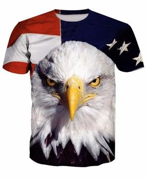 cb2cf1c2 Eagle Fashion digital printing 3D Cheap Men's Custom Printed Round Neck  Mens T Shirt