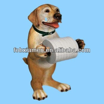 Popular Resin Yellow Lab Dog Shaped Paper Holder