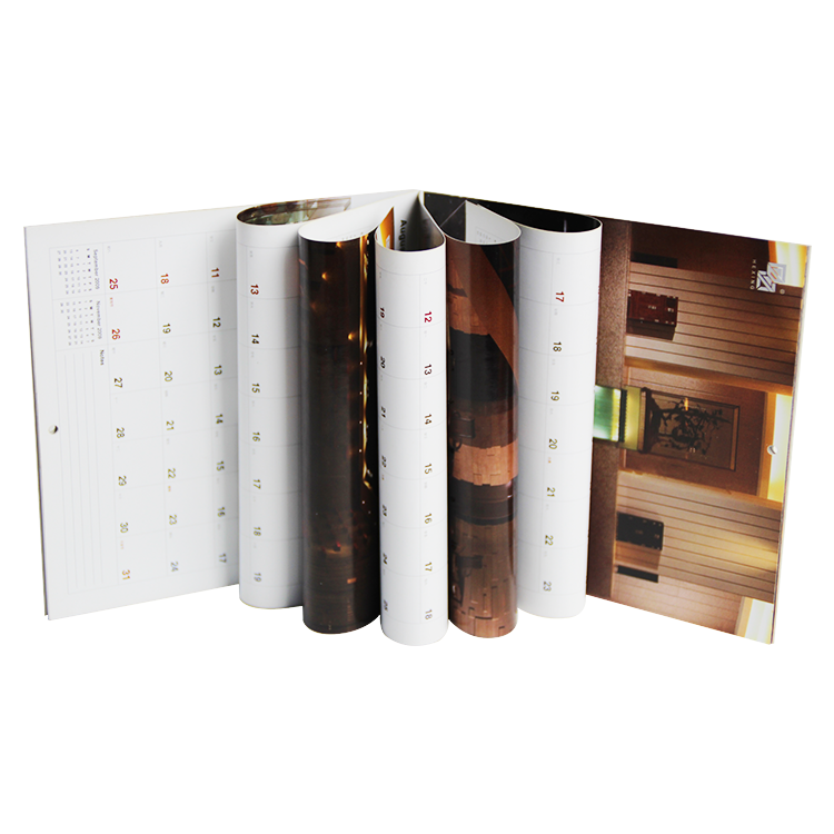 Classic design glossy paper well made customised wall calendar custom photo calendar printing