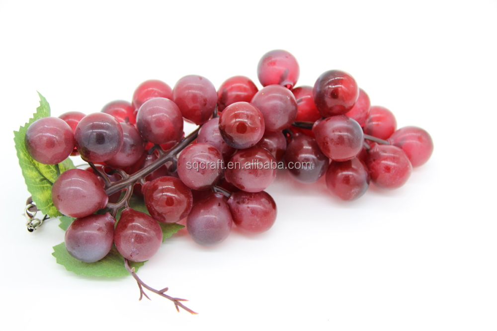Plastic faux wholesale fake grapes for wedding party for Buy grape vines for crafts