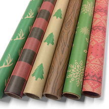High Quality Durable Kraft Paper Roll Christmas Printed Wrapping Paper for Gift Packing