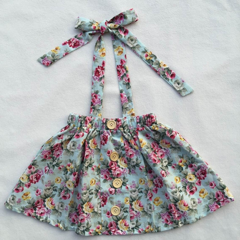 Girls skirts floral pattern skirts high quality kids skirts easter baby cotton dress