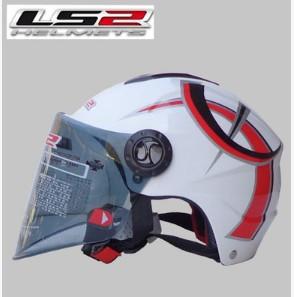Новый шлем мотоцикла LS2 OF108 летом моющиеся подкладка одежда и анти-уф линзы / черный / специальные / спринт S-XL