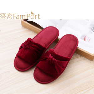 Furry felt comfort Slow rebound sponge slippers for women