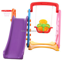 Portable kids swing and slide stand swing slide