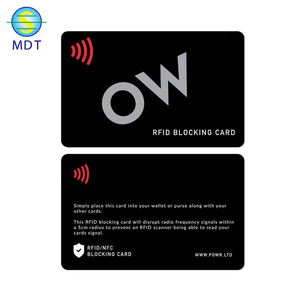 customized color 13.56MHZ Blocking card RFID with full wallet security