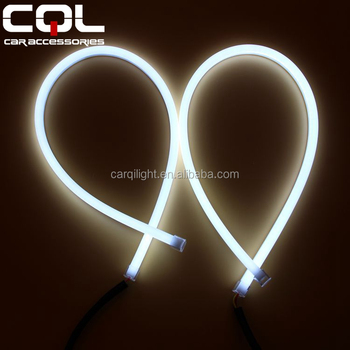 led drl 30cm 45cm 60cm 85cm 6000K 7000K 280lm 6w 12v silicone soft strip car tears light daytime running