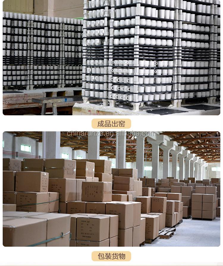 Fabricant Personnalisé Moderne Fileté Vase En Céramique blanche