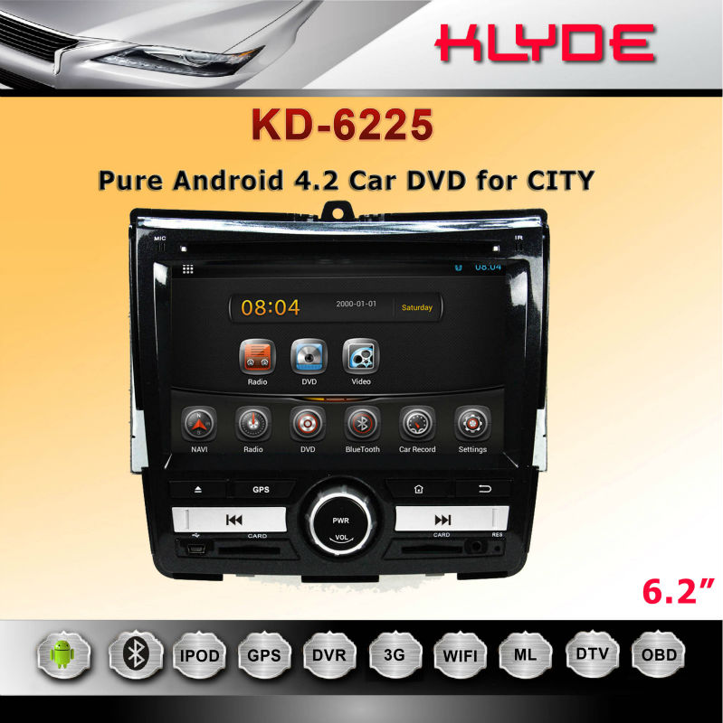 special 6.2 inch In dash car dvd gps navigation system for city 2008-2011