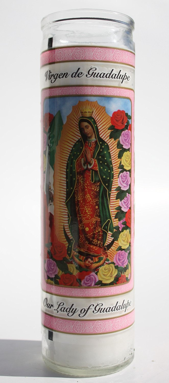 "Buy Catholic Prayer Candles with Glass Jar Holders – 8"" Tall Votive"